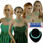 Bridesmaid Jewelry Green Graduated Lucite Beaded Necklaces For 3 4 6 or 8 Set