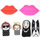 3D Animals Cartoon Soft Silicone Case Cover Back Skin For iphone5/6s/7 plus JR
