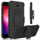 For LG X Charge/ X Power 2/Fiesta LTE Shockproof Hybrid Case With Kickstand Clip