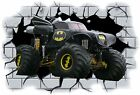 Huge 3D Batman Monster Truck Crashing through wall View Wall Sticker Mural 26