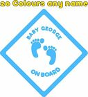 Personalised Baby on Board Car Stickers Decals A674