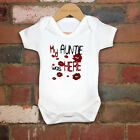 2017 Funny 100% Cotton My Auntie Was Here Baby Bodysuit Grow Gift Nontoxic Ink