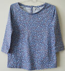 NEW FAT FACE BLUE DITSY FLORAL JERSEY TOP 6 8 10 12 14 18