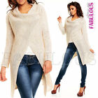 NEW Womens Long Poncho Knitcoat Cardigan Knitted Jacket Coat Outerwaer Size 10 M