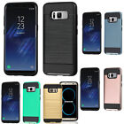 Samsung Galaxy S8, S8 Plus Case Refined Brushed Metal Defender Screen Protector
