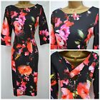 NEW LORRAINE @ JD WILLIAMS DRESS SHIFT BLACK PINK ORANGE FLORAL PLUS SZ 10 - 26