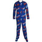 New York Mets MLB Wildcard Mens Fleece Unionsuit Pajamas