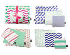 Set Of 3 Travel Pouch Set Cotton Canvas Cosmetic Bag Nautical Tropical Prints