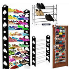 NEW 4 / 10 / 12 Tier Shoe Storage Shelf Rack Stand Organiser12/30/50 Pairs Shoes