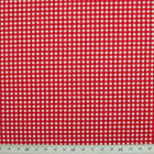 100% Cotton Fabric - Mini Check Gingham - RED  - Rose & Hubble - Cut from Roll