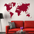 World Map Wall Stickers! Earth Vinyl Transfer Graphic Decal Decor Globe Stencil