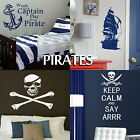 Pirate Wall Stickers Transfer Graphic Decal Decor Art Stencil Boys Room Sticker