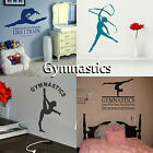 Gymnastics Wall Stickers Transfer Girls Bedroom Graphic Decal Gymnast Decor UK