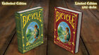 CARTE DA GIOCO BICYCLE NEVERLAND LIMITED & UNLIMITED EDITION,poker size
