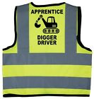 Baby/Chilren/Kids Hi Vis Safety Jacket/Vest Apprentice Digger Driver Size 0-9Yrs