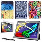 ART THIN LEATHER CASE COVER, SCREEN PROTECTOR & STYLUS FOR LENOVO TAB 2 A10-70