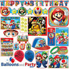 Super Mario Bros Gaming Birthday Party Tableware Decorations Supplies