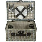 ZQ1-3753 Fashionable, washed wicker picnic basket for 4 people