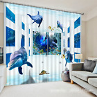 3D Dolphin 537 Blockout Photo Curtain Printing Curtains Drapes Fabric Window AU
