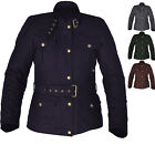 Oxford Bradwell Ladies Motorcycle Jacket Waterproof Wax Cotton Womens Motorbike
