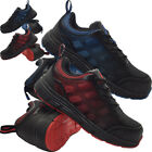 MENS LIGHT-WEIGHT QUALITY STEEL TOE CAP WORK TRAINERS LACE UP ANKLE SHOES BOOTS
