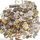 Wholesale Lots Mixed Old Gold Silver Brown Acrylic Plastic Beads Jewellery