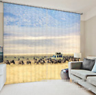 3D Grassland 3 Blockout Photo Curtain Printing Curtains Drapes Fabric Window US