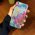 Colorful Mermaid 3D Scales Squama Acrylic Phone Cases For iPhone7 Plus 6 6S JR