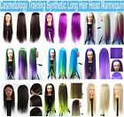 """22""""-26"""" Cosmetology Training Head Synthetic Long Hair Mannequin-USA Seller"""