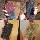 iPhone Bling Rainbow Colourful Glitter Crystal Holder Strap Sparkly Hard Cover
