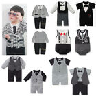 Good Deal US$11.99 1417-36B NEW Baby Boy Tuxedo Wedding Party Romper 3-18 Months