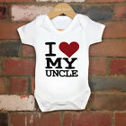 2017 Funny 100% Cotton I Love My Uncle Baby Bodysuit Grow Gift Nontoxic Ink