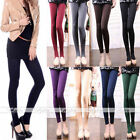 Women Girl Thick Warm Stretch Tight Footless Stockings Pencil Pant Legging AU