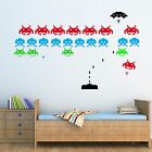 SPACE INVADERS RETRO ADULT, CHILDRENS WALL STICKER ART DECAL