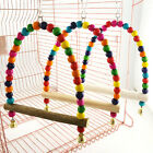 Bird Swing Parrot For Trainning Colorful Parakeet Hanging Wooden Swing Toy