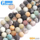 Natural Multi-Color Amazonite Gemstone 2.5mm Big Hole Round Beads Free Shipping