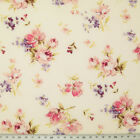100% Cotton Poplin Fabric ROSE & HUBBLE VINTAGE FLORAL ROSES Craft Material