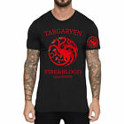 FIRE BLOOD Game of thrones Targaryen Printed Men Cotton T-Shirt Short Sleeve Top