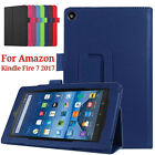 Magnetic Folding Leather Case Stand Cover Shell For Amazon Kindle Fire 7 2017 UK