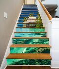 3D Green water house 3543 Risers Decoration Photo Mural Vinyl Decal Wallpaper US