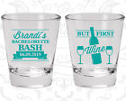 Bachelorette Party Shot Glasses Glass Favor (60099) Bash, But First Wine