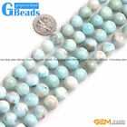 Natural Grade AAA Blue Larimar Gemstone Round Beads Free Shipping Strand 15""