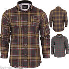 Mens Check Brave Soul Edvard Flannel Brushed Cotton Long Sleeve Shirt S M L XL