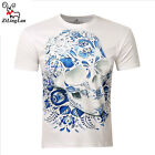 Brand Fashion Flower Short Sleeve 3D Printed Men's T-shirt Casual O-neck