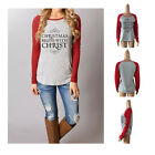 Fashion Women Loose T-Shirt Round Collar Cotton Long Sleeve Casual Blouse Tops