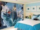 3D Boat sky 626 Blockout Photo Curtain Printing Curtains Drapes Fabric Window US