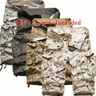 Mens Military Combat Camo Cargo Shorts Pants Work Casual Short Army Trouser  hot