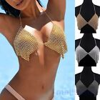 Summer Bikini Top Harness Rhinestone Bra Body Chest Chain Necklace Beachwear