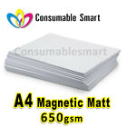 A4 650gsm Magnetic Matte Inkjet Photo Paper Water Proof UV Resistant