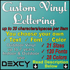 Custom Vinyl Lettering Vinyl Decal Sticker Car Window Boat Sign Wall Outdoor